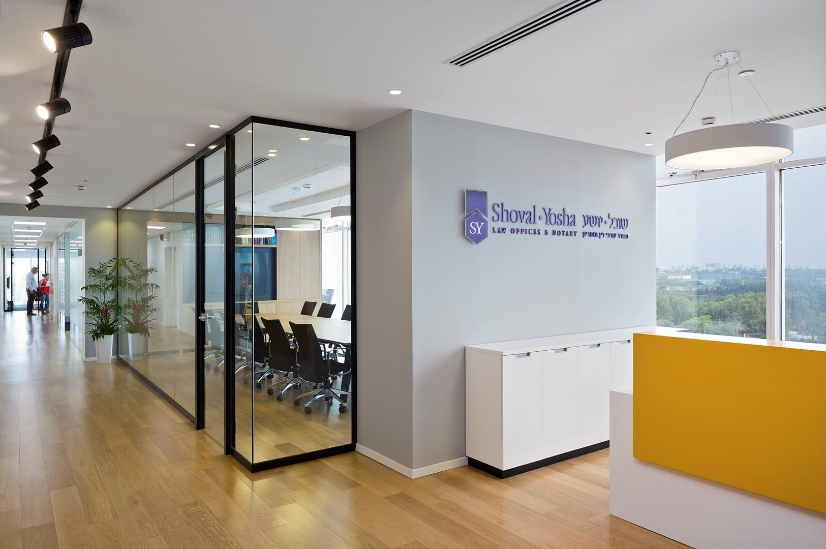 עיצוב משרדי עורכי דין שובל-יושע - חגי נגר אדריכלים